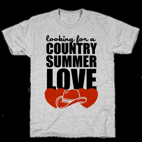 Country Summer Love (Tank) Mens T-Shirt