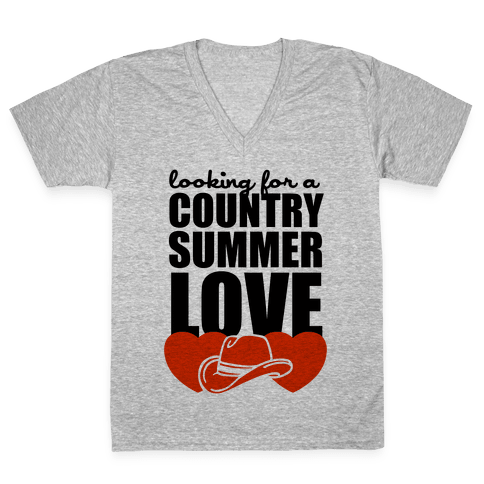 Country Summer Love (Tank) V-Neck Tee Shirt