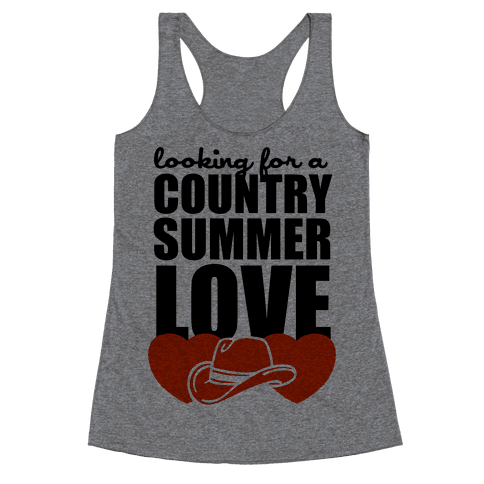 Country Summer Love (Tank) Racerback Tank Top