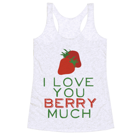 Berry Much Racerback Tank Top