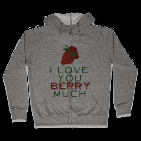 Berry Much Zip Hoodie