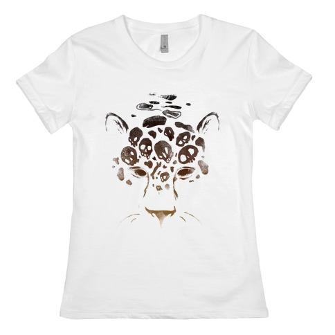 Spooky Skulls Jaguar Womens T-Shirt