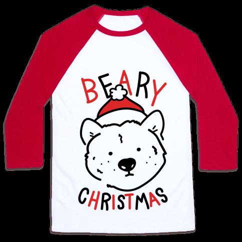 Beary Christmas Baseball Tee