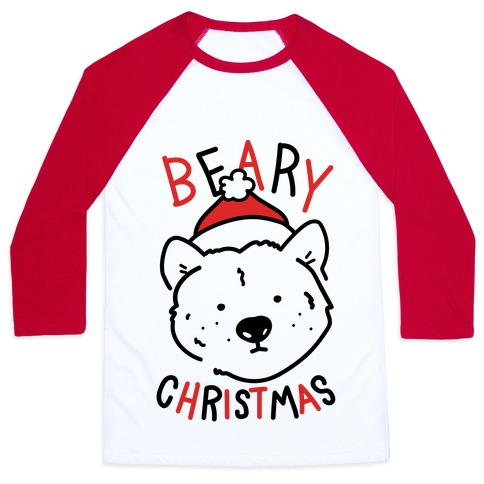 Beary Christmas Baseball Tee