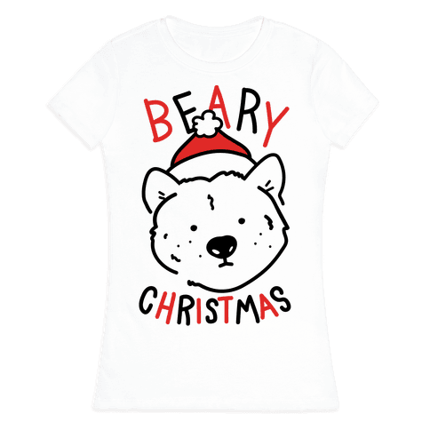 Beary Christmas Womens T-Shirt