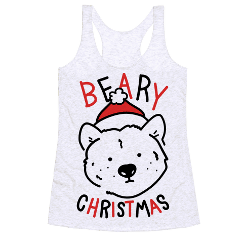 Beary Christmas Racerback Tank Top