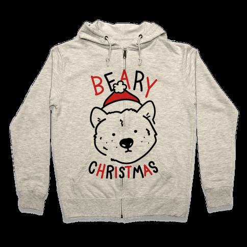 Beary Christmas Zip Hoodie