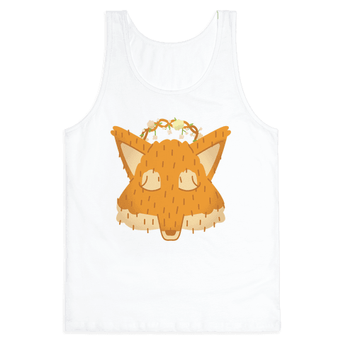 Flower Crown Fox Face Tank Top
