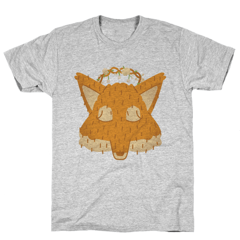 Flower Crown Fox Face Mens T-Shirt