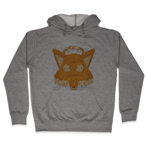 Flower Crown Fox Face Hooded Sweatshirt