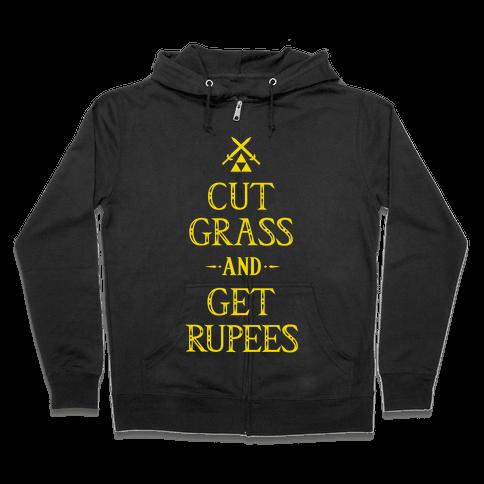 Cut Grass Get Rupees Zip Hoodie