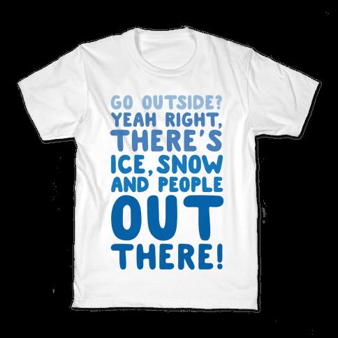 Winter Introvert Kids T-Shirt