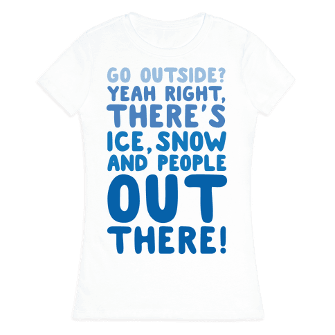 Winter Introvert Womens T-Shirt