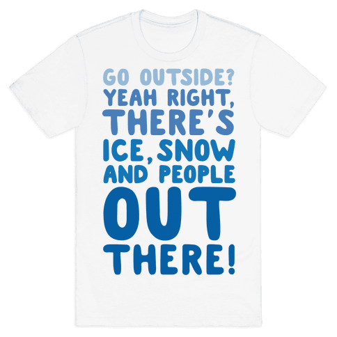 Winter Introvert Mens T-Shirt