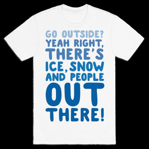 Winter Introvert Mens T-Shirt