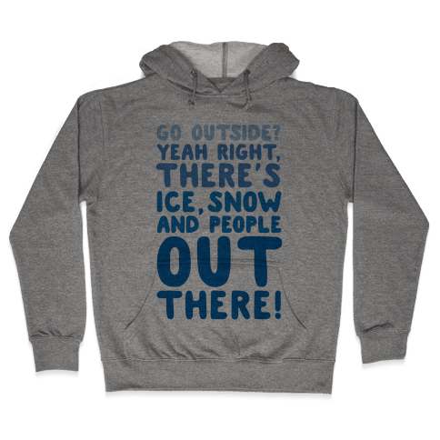 Winter Introvert Hooded Sweatshirt