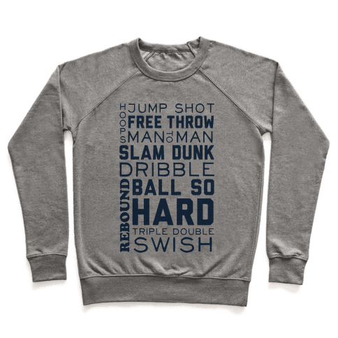 Basketball Typographic (Blue) Pullover