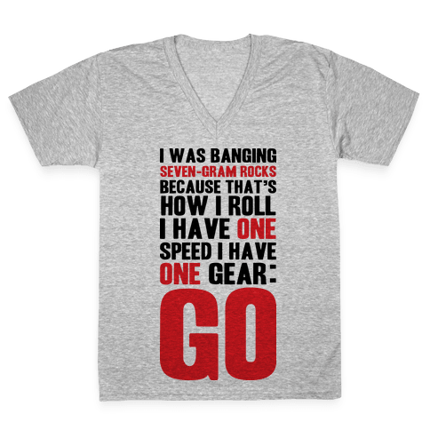 Only One Gear V-Neck Tee Shirt