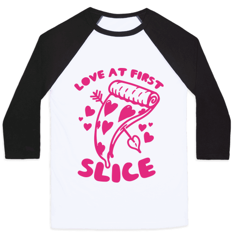 Love At First Slice Baseball Tee