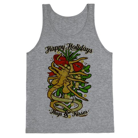 Happy Holidays Hugs and Kisses Tank Top