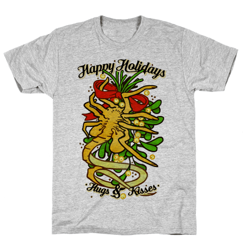 Happy Holidays Hugs and Kisses Mens T-Shirt