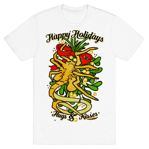 Happy Holidays Hugs and Kisses Mens T-Shirt