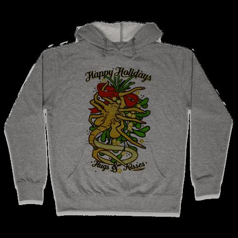 Happy Holidays Hugs and Kisses Hooded Sweatshirt