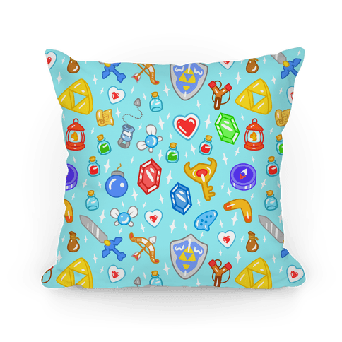 Zelda Items Pillow