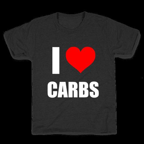 I Heart Carbs Kids T-Shirt