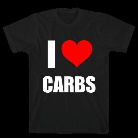 I Heart Carbs Mens T-Shirt