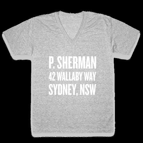 P. Sherman 42 Wallaby Way Sydney V-Neck Tee Shirt