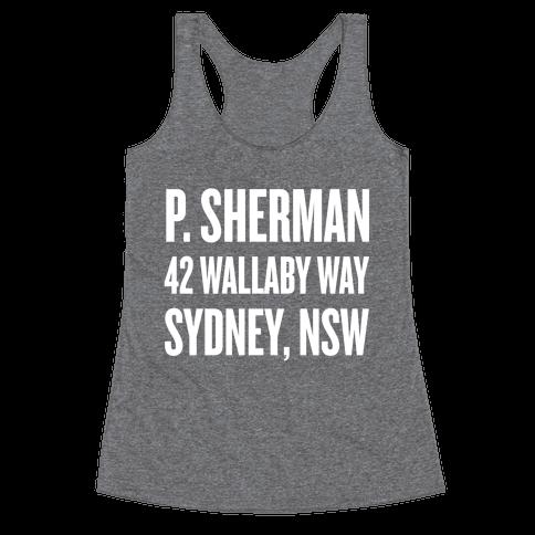 P. Sherman 42 Wallaby Way Sydney