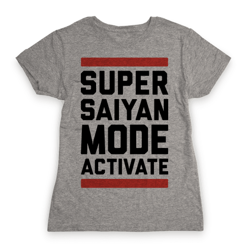 Super Saiyan Mode Activate Womens T-Shirt
