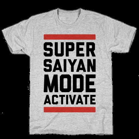 Super Saiyan Mode Activate Mens T-Shirt