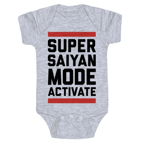 Super Saiyan Mode Activate Baby Onesy
