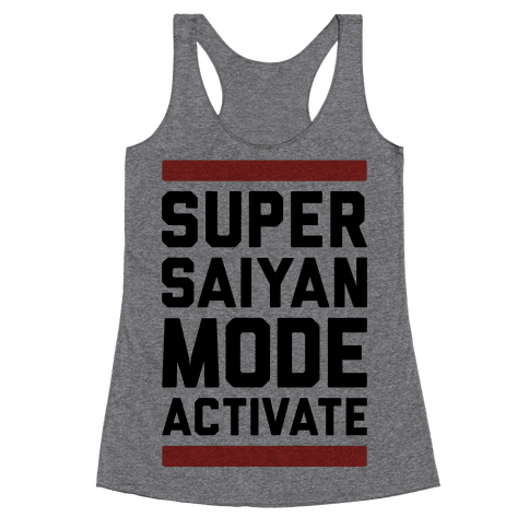 Super Saiyan Mode Activate Racerback Tank Top