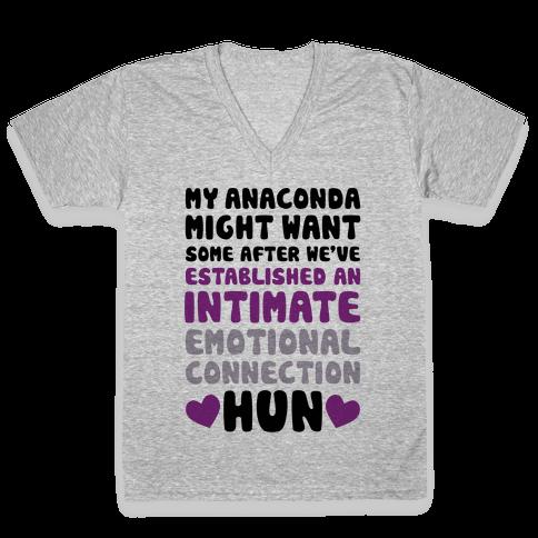My Anaconda Might Want Some V-Neck Tee Shirt