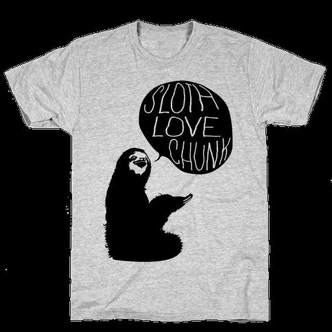 Sloth Love Chunk Mens T-Shirt