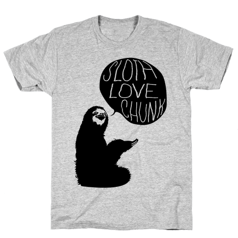 Sloth Love Chunk Mens T-Shirt