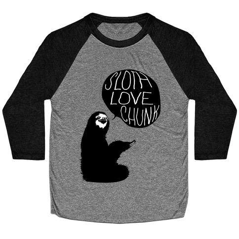 Sloth Love Chunk Baseball Tee