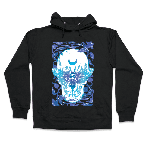 Skull Moth Hooded Sweatshirt