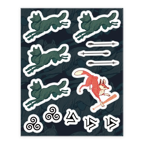 The Boy Who Runs With Wolves (Teen Wolf) Sticker/Decal Sheet
