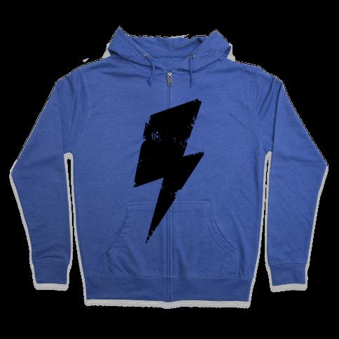Lightning Bolt Zip Hoodie