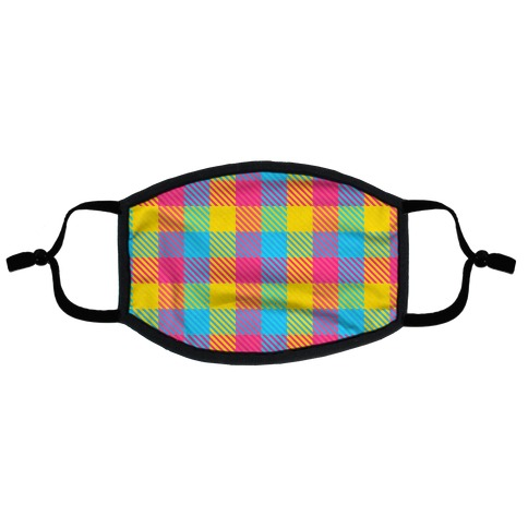 Pan Pride Flag Plaid Flat Face Mask