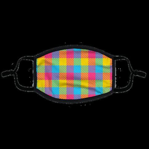 Pan Pride Flag Plaid Flat Face Mask