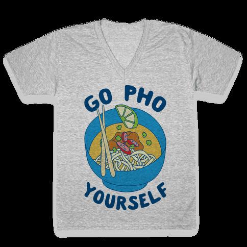 Go Pho Yourself V-Neck Tee Shirt