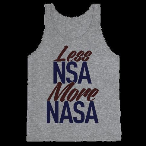 Less NSA More NASA Tank Top