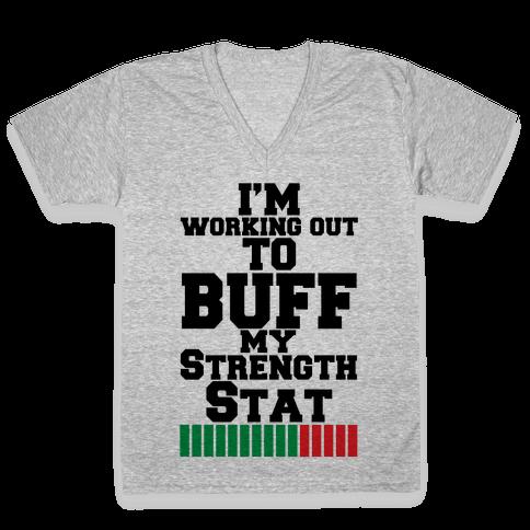 Buff Your Stats V-Neck Tee Shirt