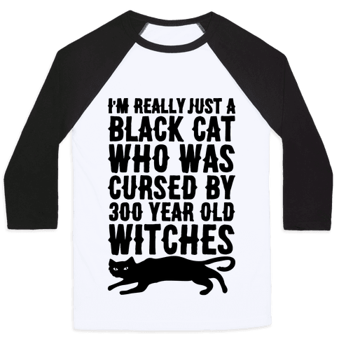 I'm Really Just A Black Cat Baseball Tee