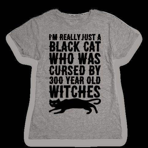 I'm Really Just A Black Cat Womens T-Shirt